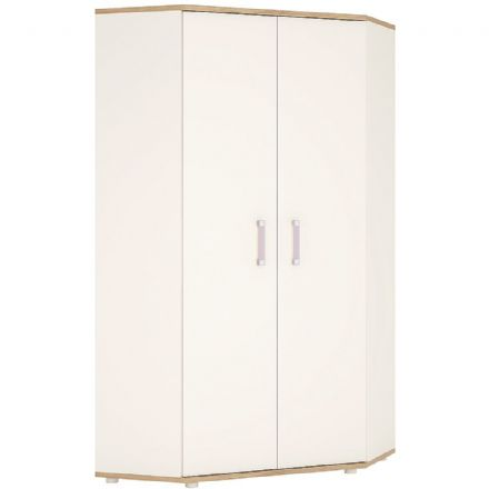 4KIDS Corner wardrobe with lilac handles